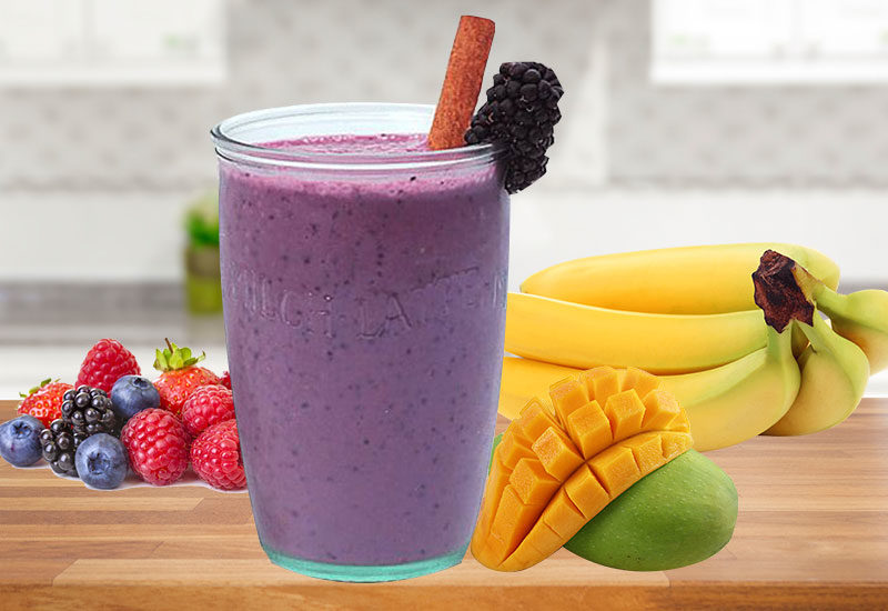 Berry, Mango & Banana Smoothie Recipe