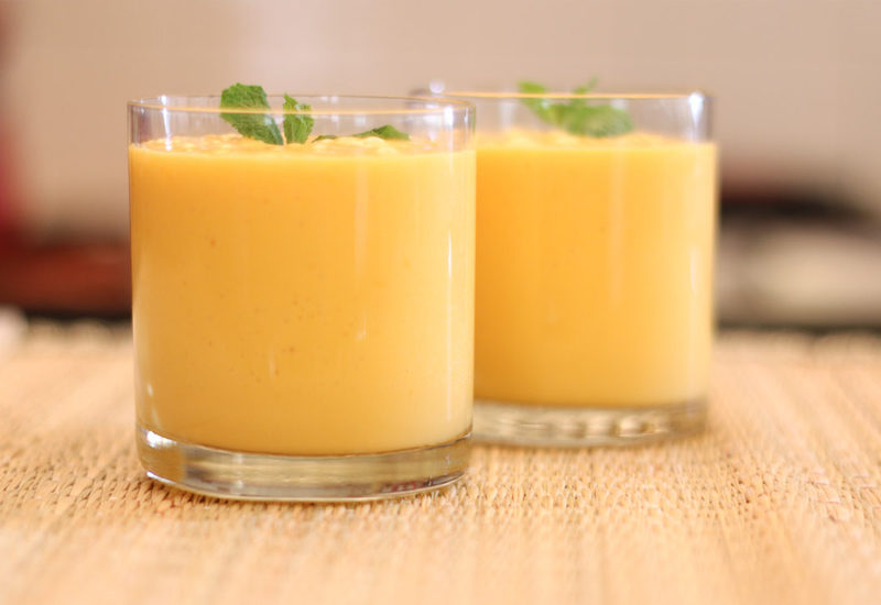 Mango Peach Breakfast Lassi